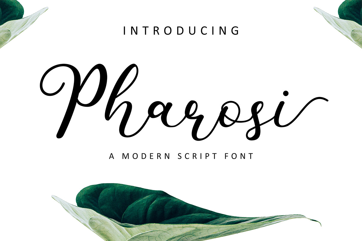 Free Pharosi Script Font