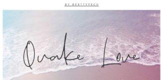 Free Quake Love Handmade Calligraphy Font