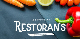 Free Restoran Display Font