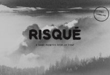 Free Risqué Hand Painted Display Font