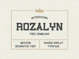 Free Rozalyn Decorative Display Font