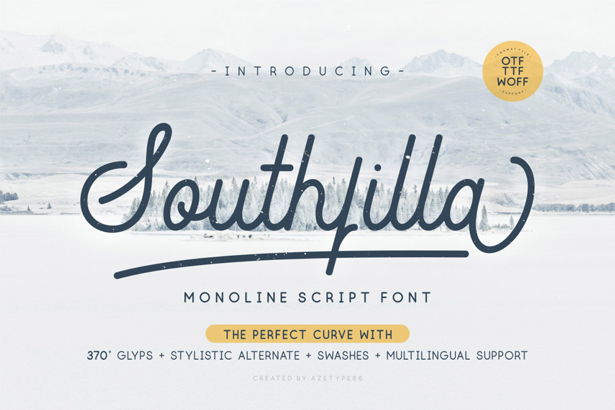 Free Southfilla Monoline Script Font - Creativetacos