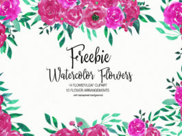 Free Watercolor Flower Clipart Collection