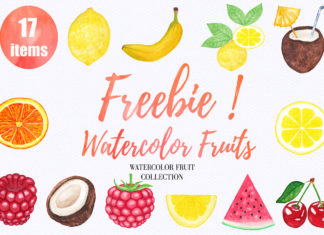 Free Watercolor Fruit Clipart Collection