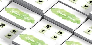 Free Watercolor Photography Business Card Template