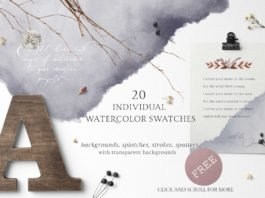 Free Watercolor Swatches Pack
