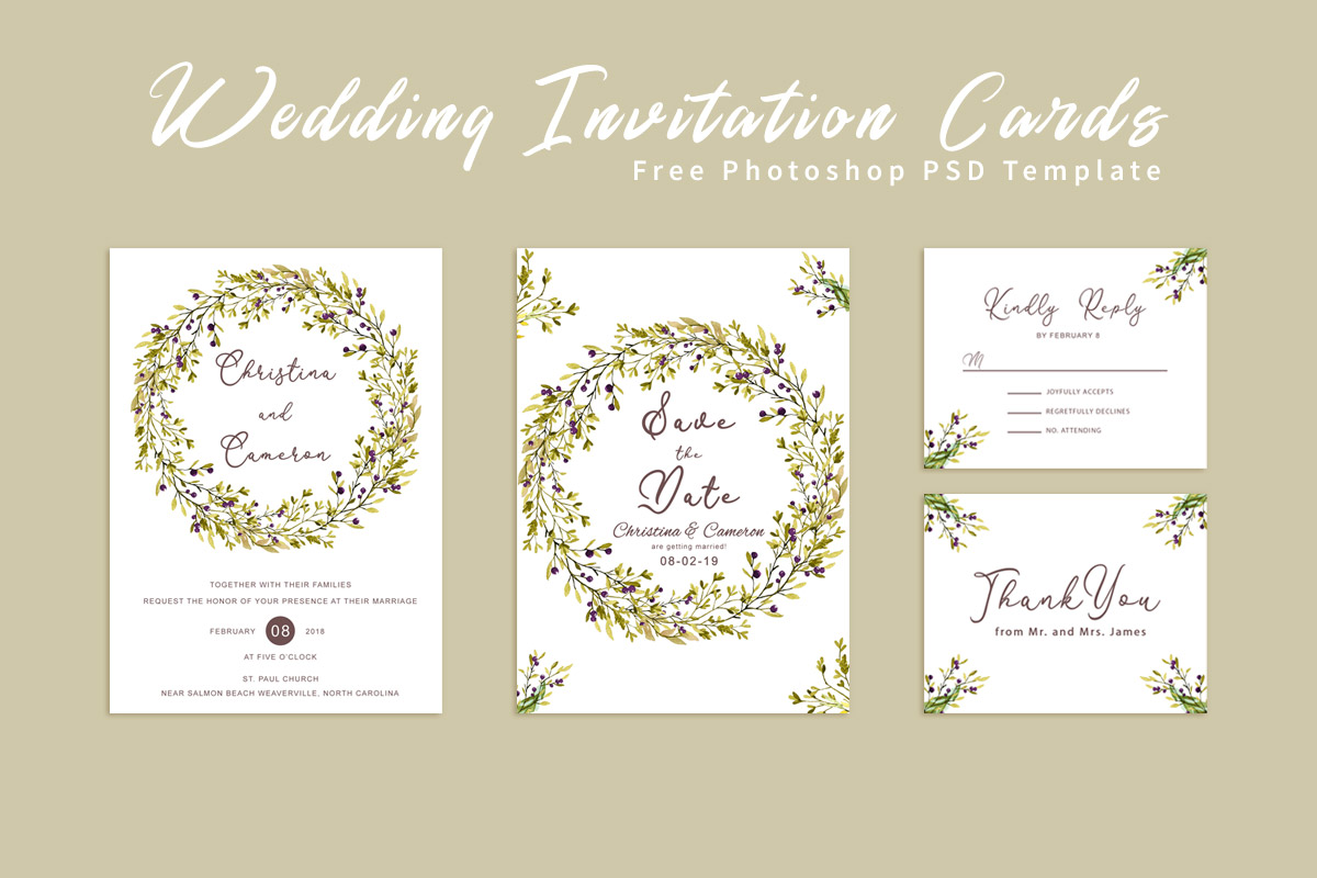 Free Wedding Invitation Card Template Creativetacos