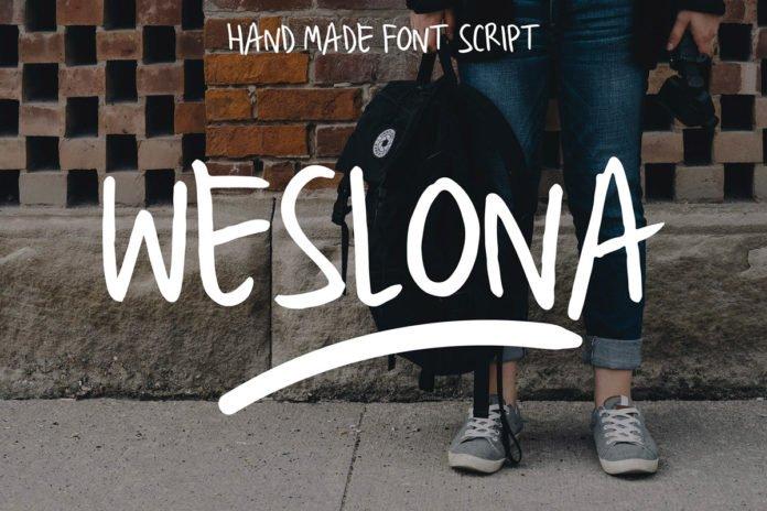 Free Weslona Brush Font