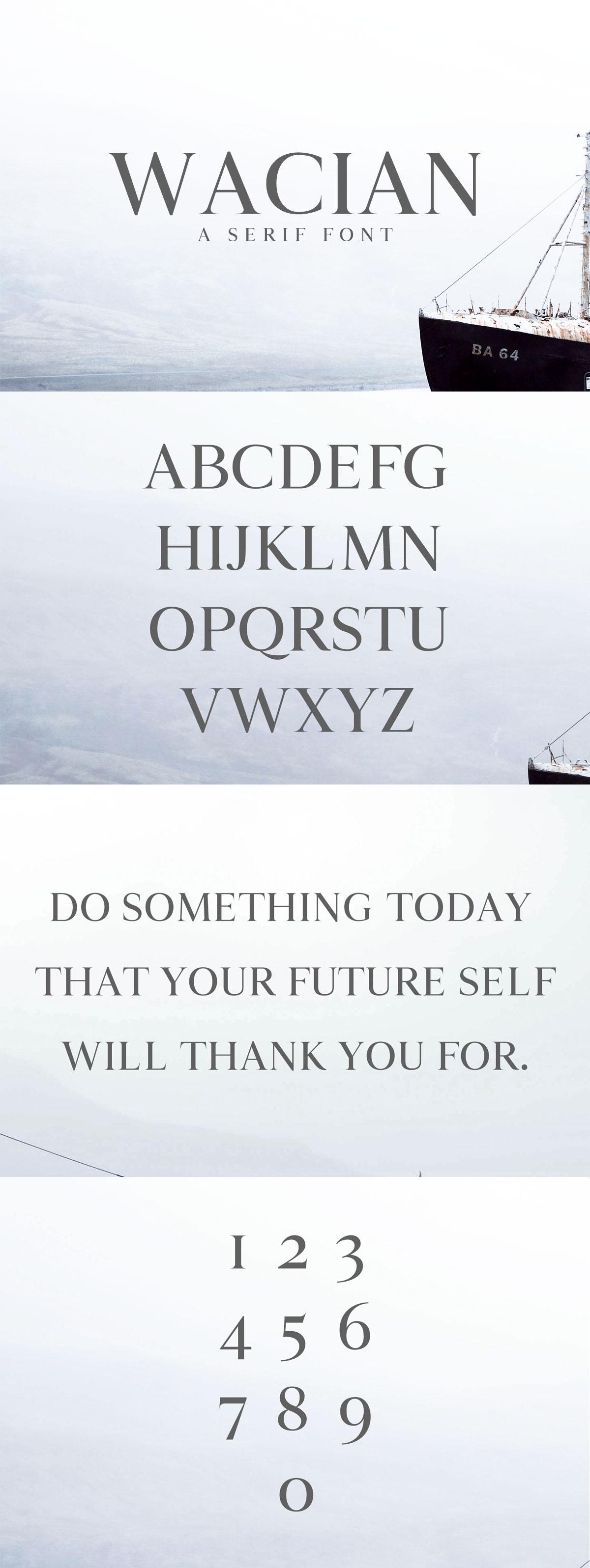 Free Wacian Serif Font