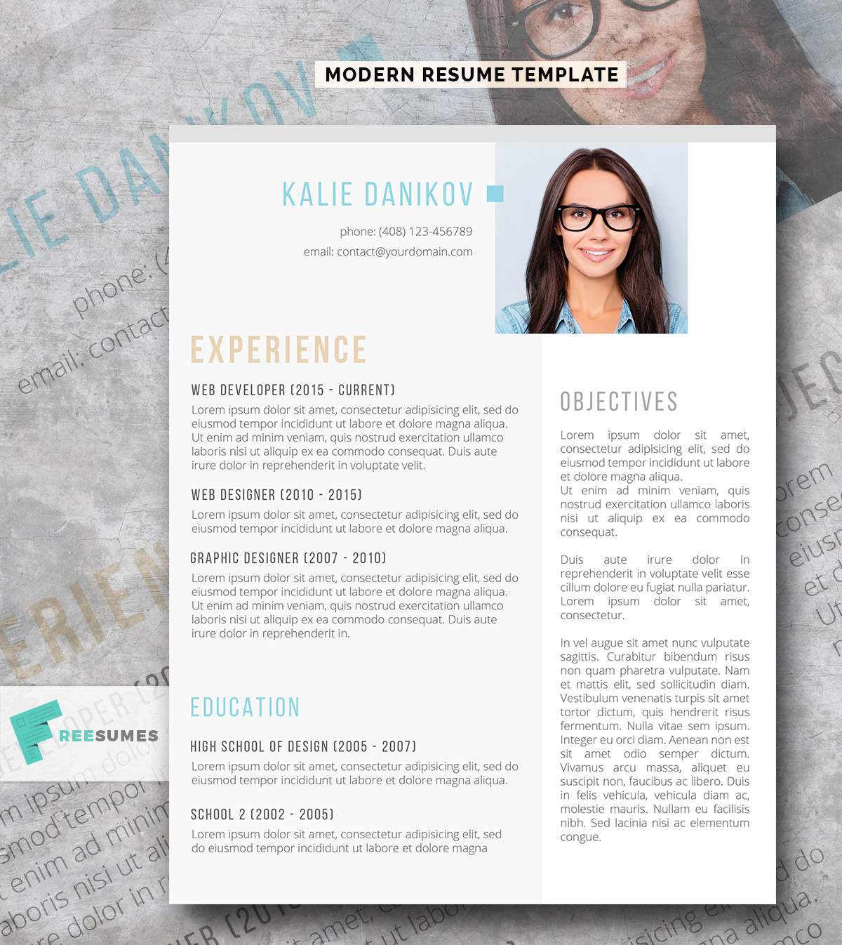 The Modern Clean Resume Template Freebie