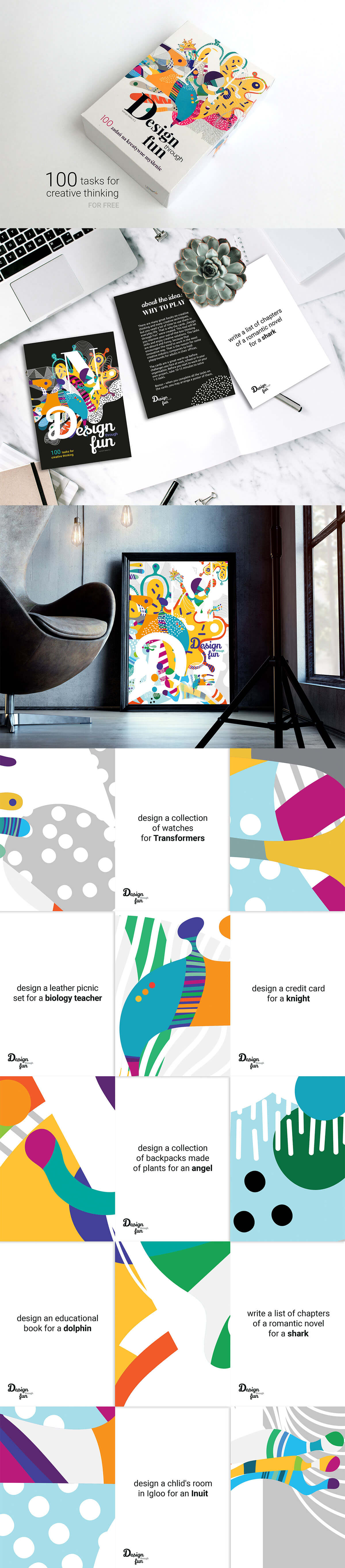 100 Free Colorful Creative Cards