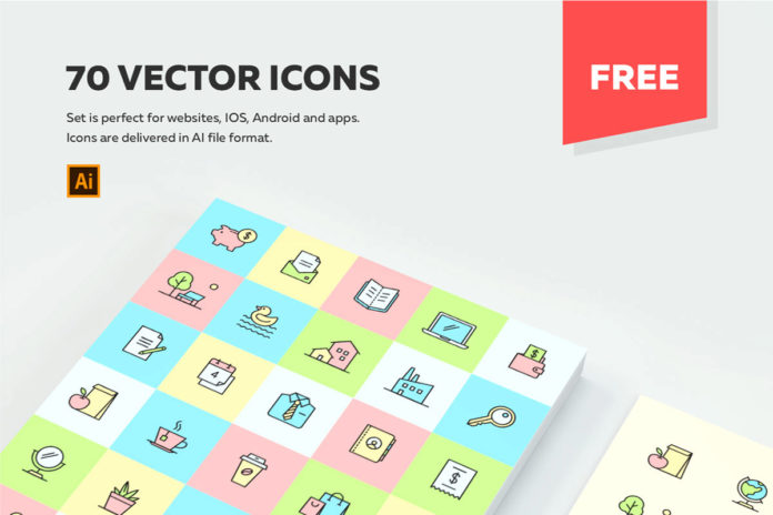 70 Free Multipurpose Vector Icons