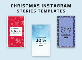 8 Free Christmas Instagram Stories Templates