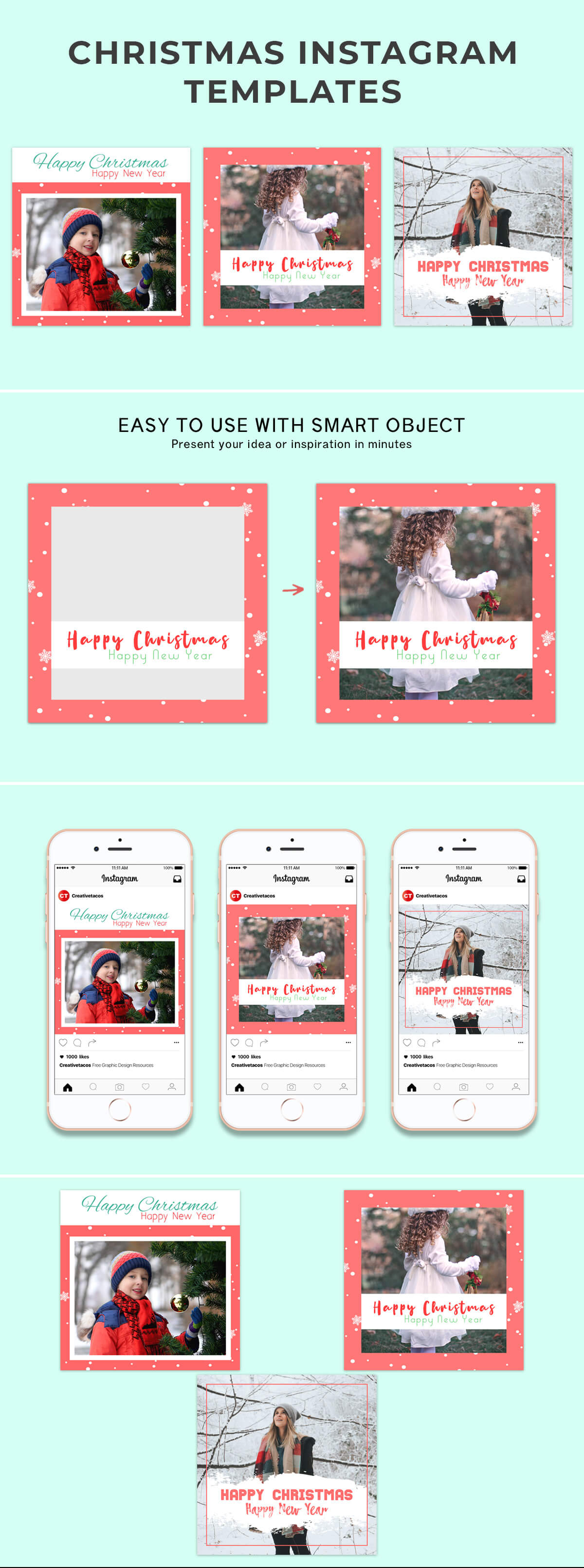 Free Christmas Instagram Template