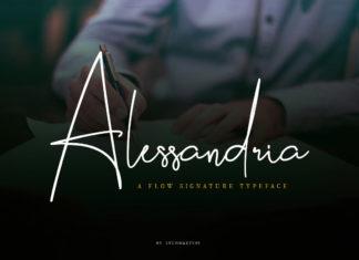 Free Alessandria Signature Font