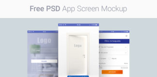 Free App Screen Mockups PSD