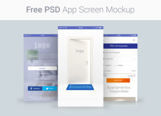Free App Screen Mockups PSD