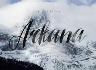 Free Arkana Vintage Script Font