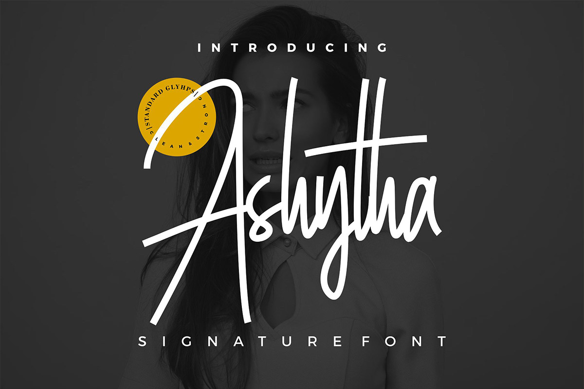 Free Ashytha Signature Font