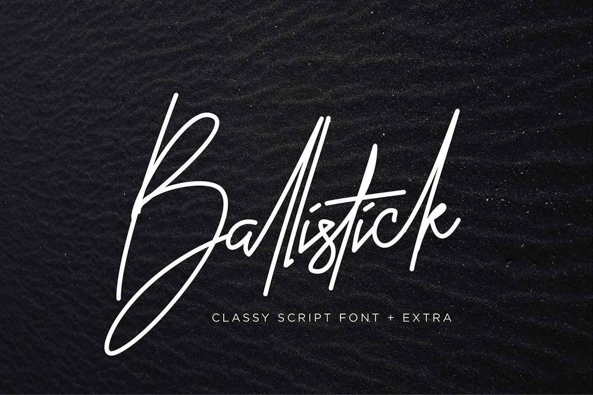 Free Ballistick Signature Script Font