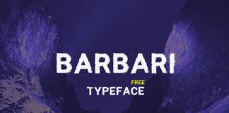 Free Barbari Textured Font