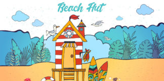 Free Beach Hut Vector Illustration