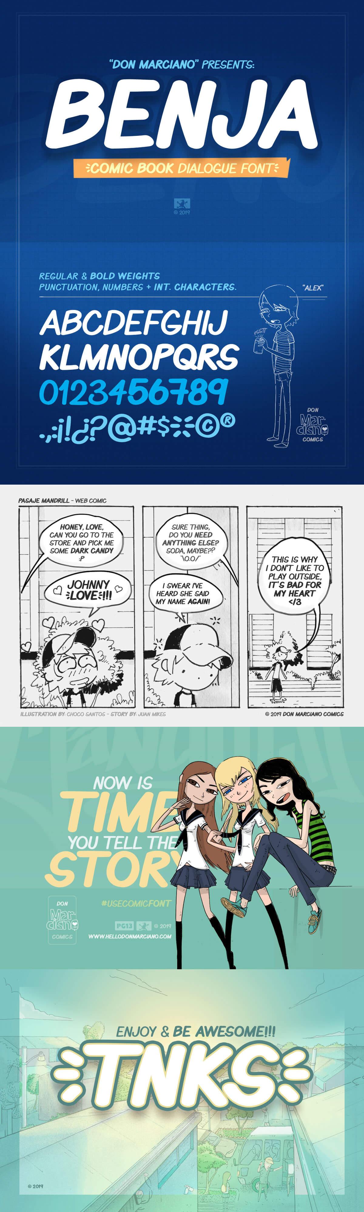 Free Benja Comic Book Font