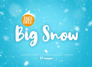 Free Big Snow Script Font
