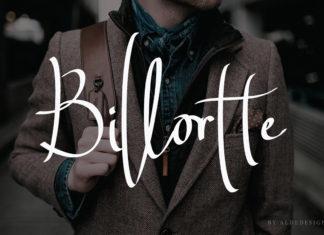 Free Billortte Signature Font