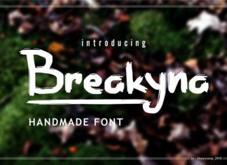 Free Breakyna Handmade Brush Font