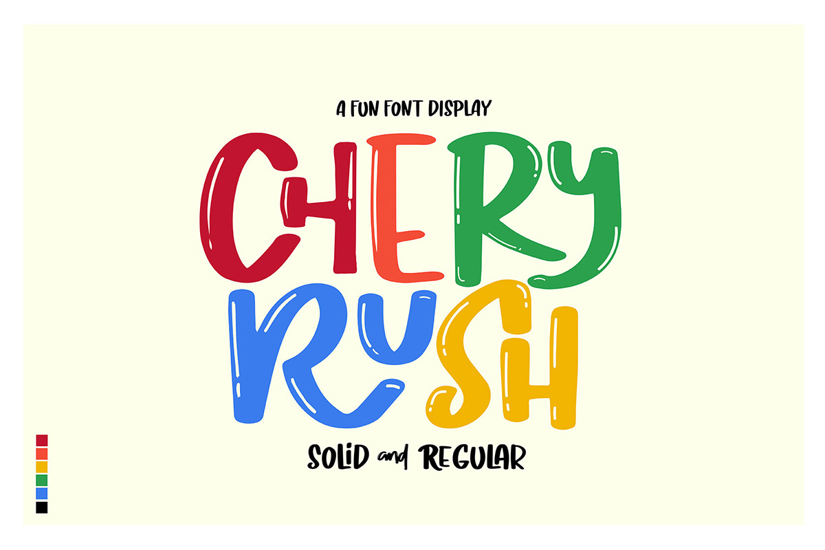 Free Chery Rush Fun Display Font
