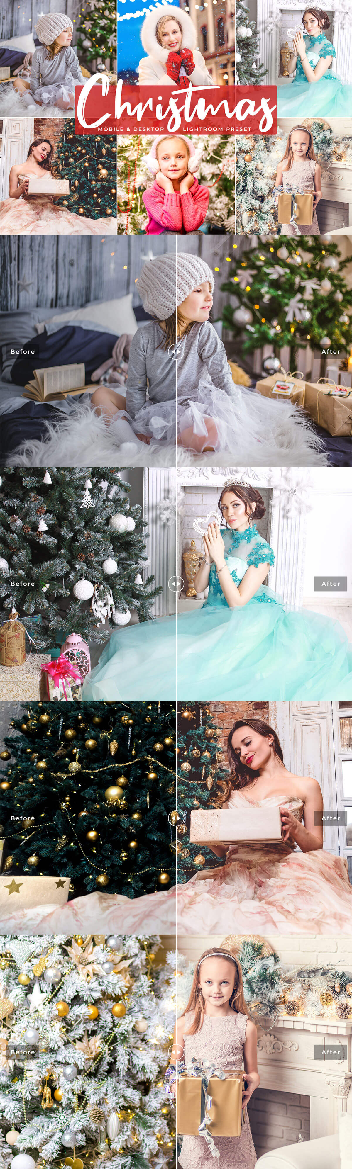 Free Christmas Mobile Lightroom Presets