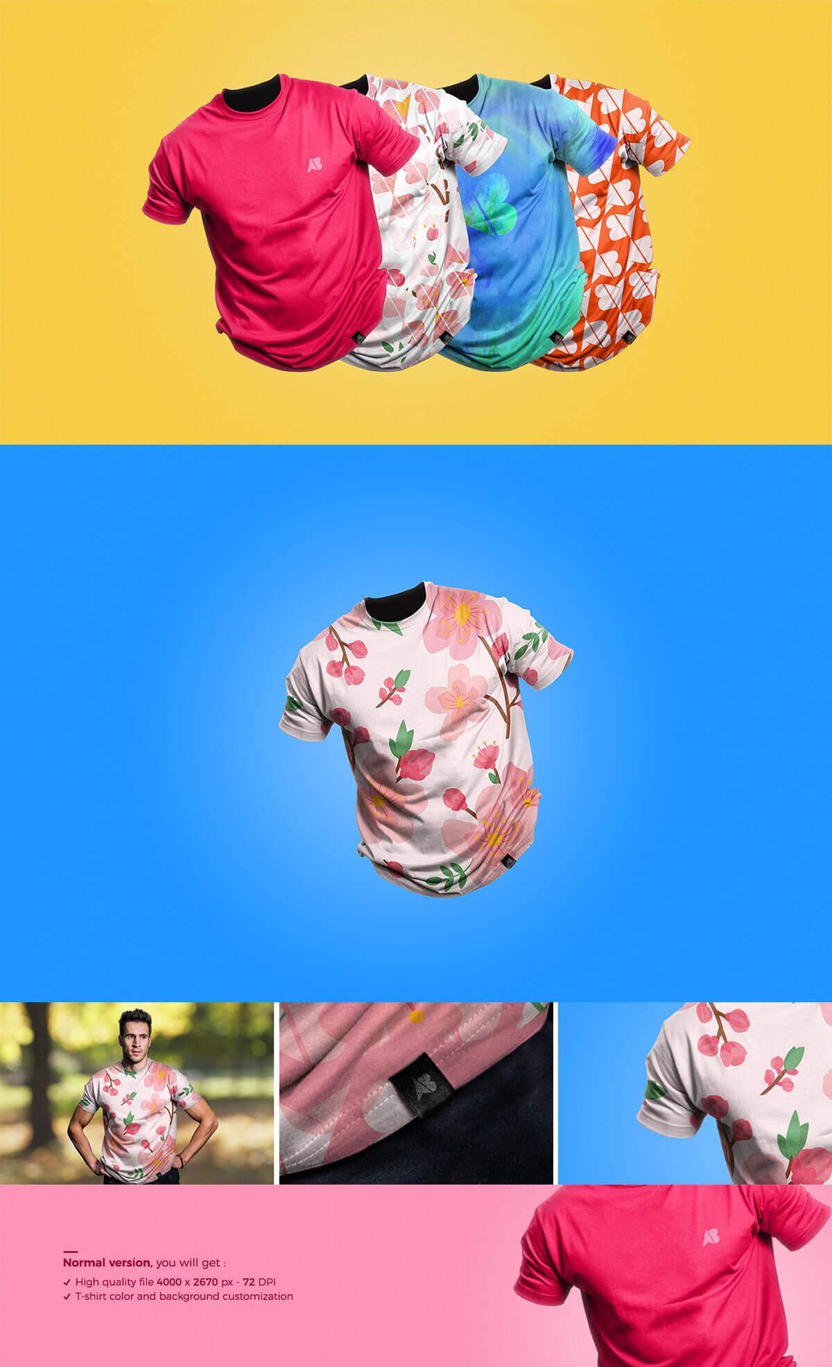 Free Clean T-Shirt Mockup