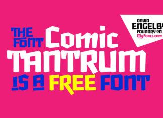 Free Comic Tantrum Font