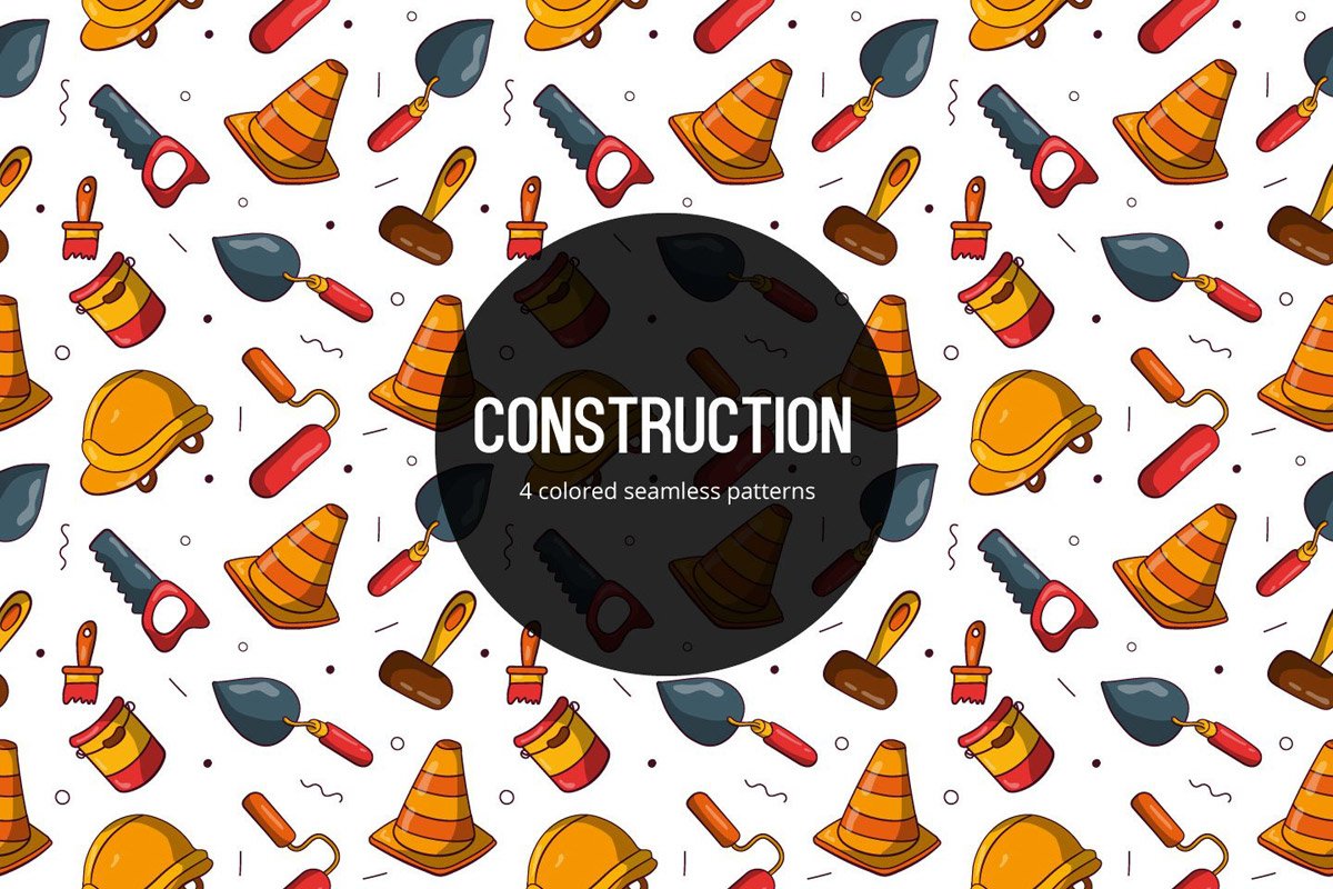 Free Construction Vector Seamless Pattern