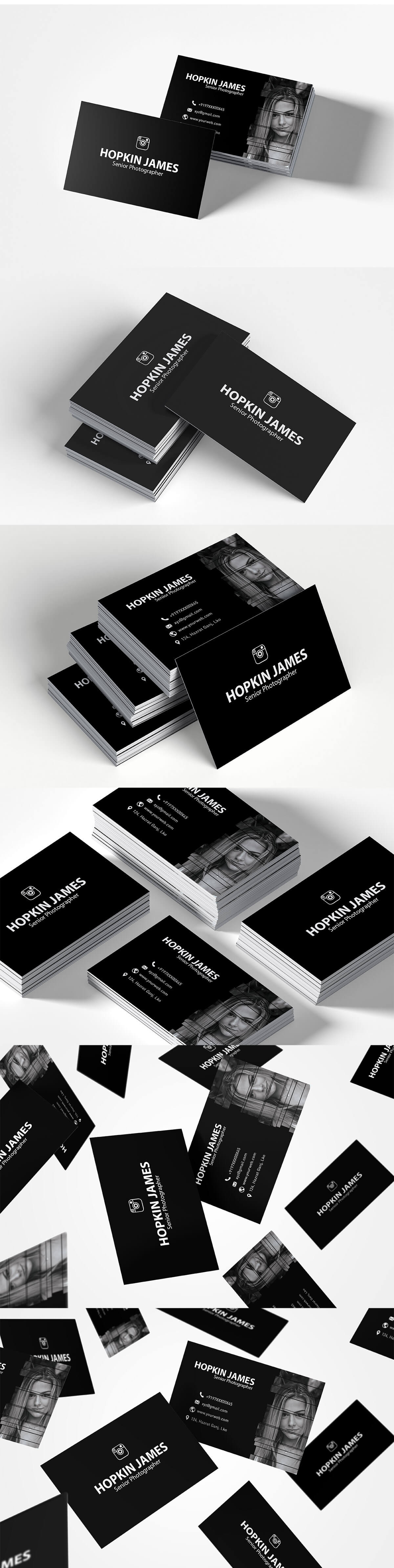 Free Corporate Photography Business Card Feature Image 1