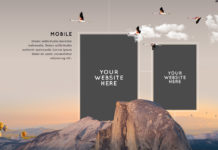 Free Creative Website Presentation PSD Mockup