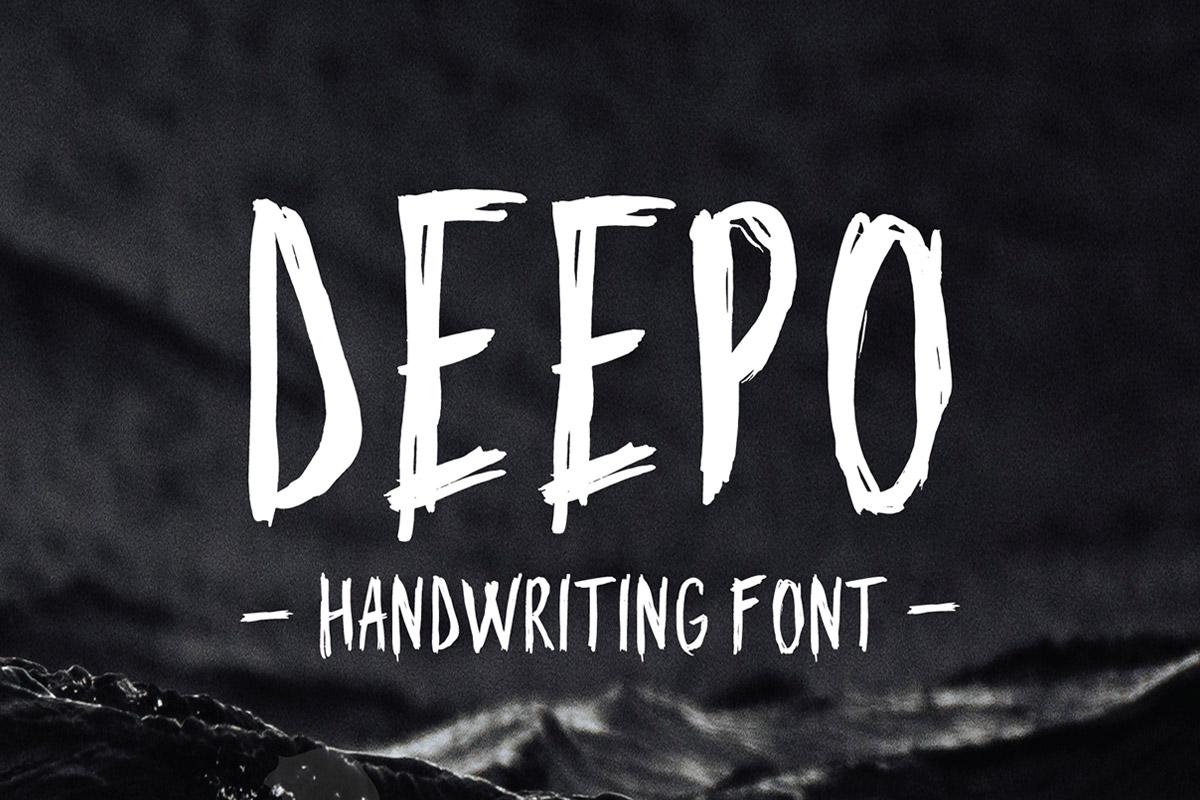 Free Deepo Handwriting Font