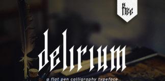 Free Delirium Calligraphy Font