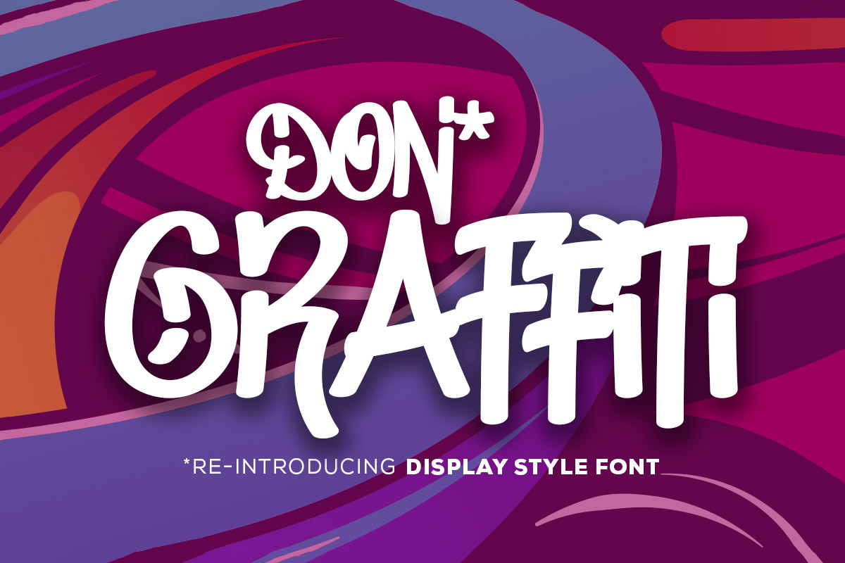Free Don Graffiti Display Font