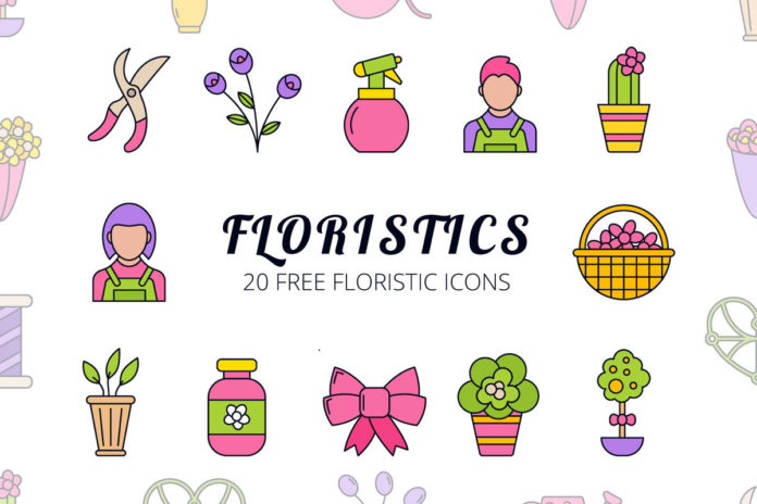 Free Floristic Vector Icon Set