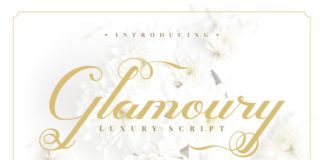Free Glamoury Script Font