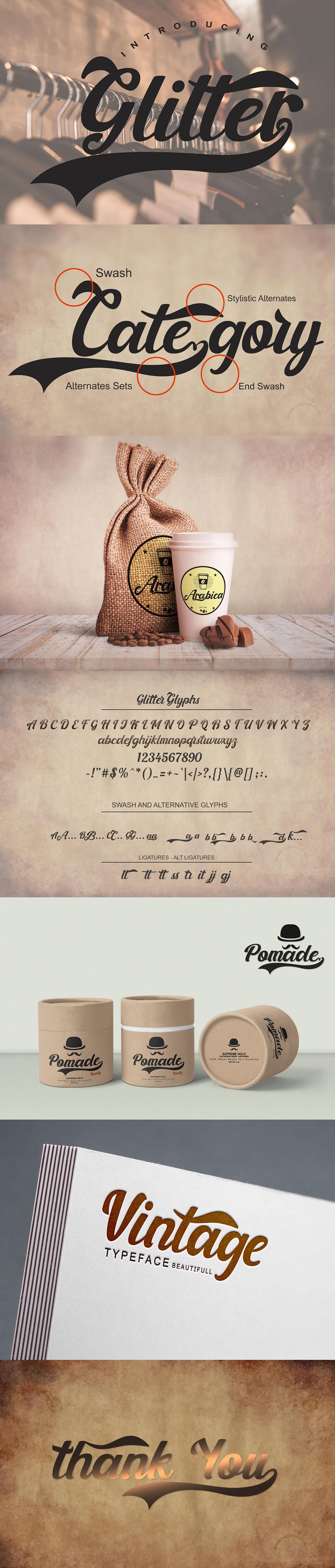 Free Glitter Script Font