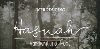 Free Hasnah Signature Handwritten Font