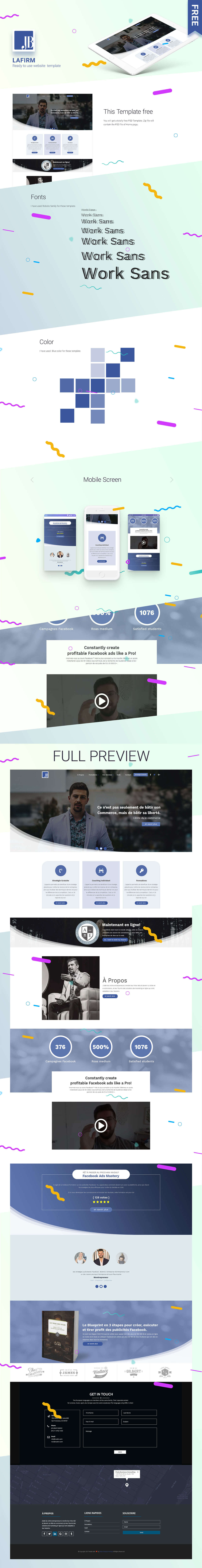 Free Lafirm Landing Page PSD Template