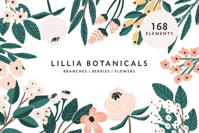 Free Lillia Floral Illustration