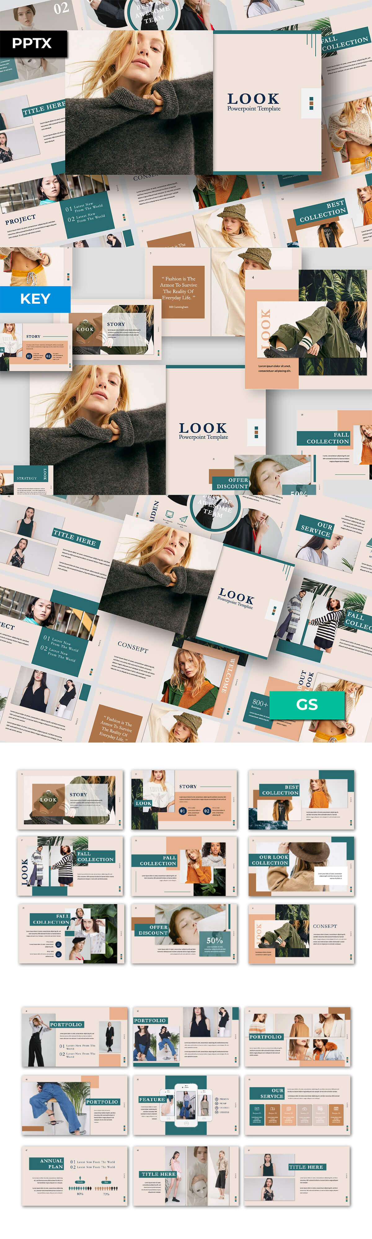 Free Look Powerpoint Template