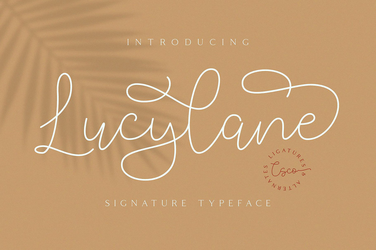 Free Lucylane Signature Font