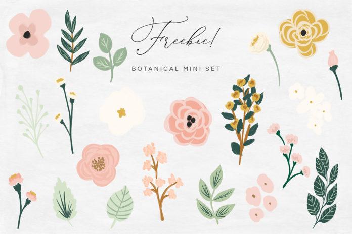 Free Mini Botanical Illustration Set