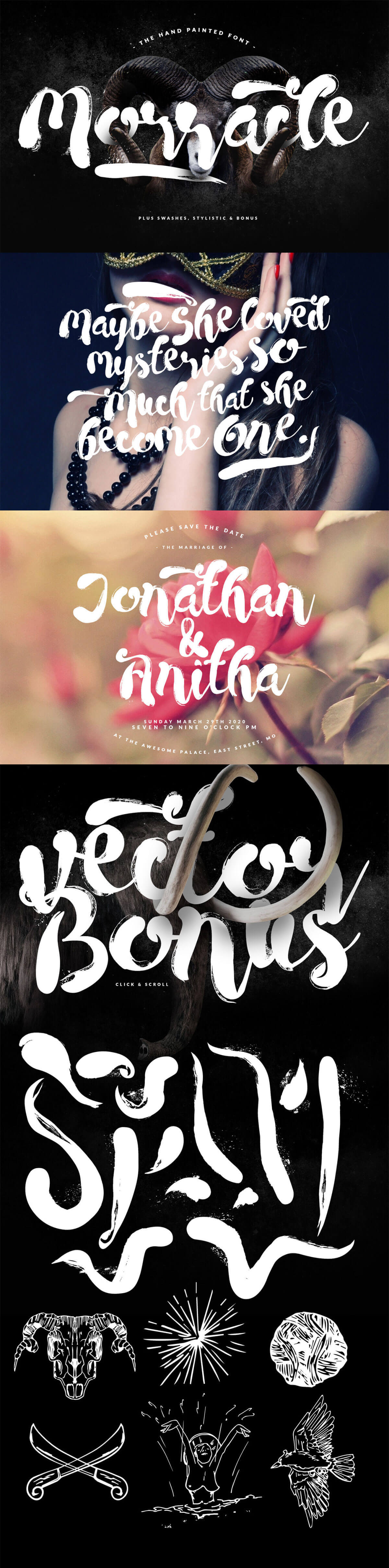 Free Morracle Brush Font